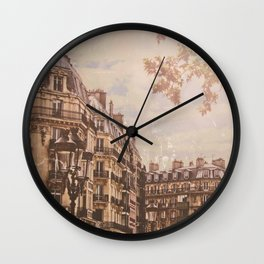 Vintage Paris Architectural Street Scene Wall Clock