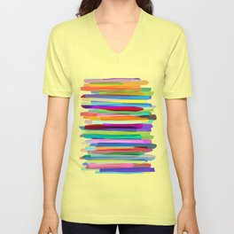 Colorful Stripes 1 Unisex V-Neck