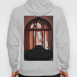 Bird in a cage neon sign Hoody