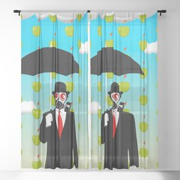 Umbrella Man Sheer Curtain