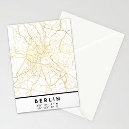 BERLIN GERMANY CITY STREET MAP ART Stationery Cards