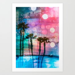 Palm Glitch ch. 07 Art Print