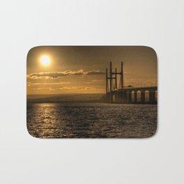 Severn Bridge Sunset  Bath Mat