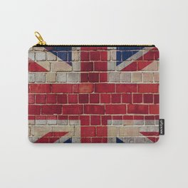 UK Union Flag on a brick wall Carry-All Pouch