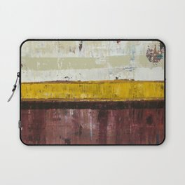 Timber Maroon Gold Abstract Art Painting Laptop Sleeve