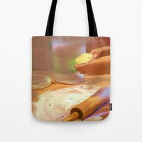 baking Tote Bags featuring Baking by Karen Herman Jacquez