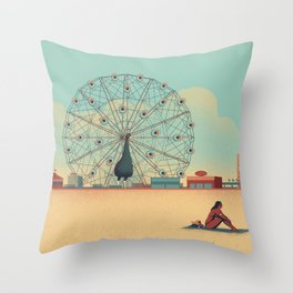 Urban Wildlife - Peacock Throw Pillow