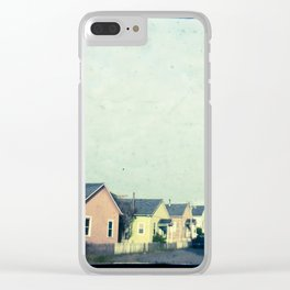 Little Pink Houses Clear iPhone Case