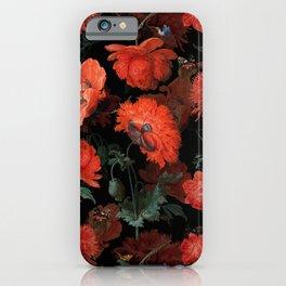 Jan Davidsz. de Heem Vintage Summer Poppies Flowers Night Botanical Garden iPhone Case