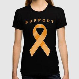 Orange Awareness Ribbon T-shirt
