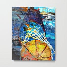 Basketball art swoosh 102 Metal Print