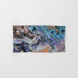 Molten Time (flow art on canvas) Hand & Bath Towel