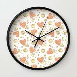 Hearts in Love Wall Clock