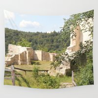medieval Wall Tapestries featuring Medieval Castle Ruins by Christine aka stine1