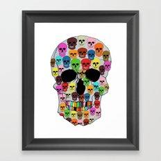 colorfull skull Framed Art Print