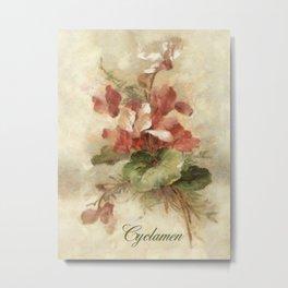 Cyclamen Metal Print