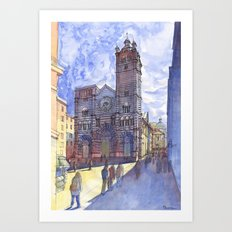 The church of S. Lorenzo (Genova, Italy) Art Print