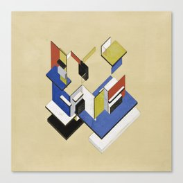 Theo van Doesburg - Contra-Construction Project (Axonometric) - Abstract De Stijl Painting Canvas Print