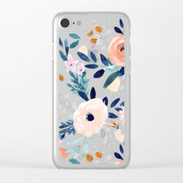 Jolene Floral Clear iPhone Case
