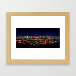 Las Vegas Lights Framed Art Print