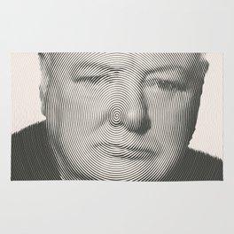 Winston Churchill Spiral Portrait Rug
