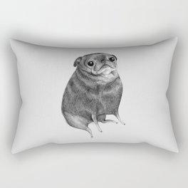 Sweet Black Pug Rectangular Pillow