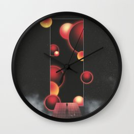 Void Vibes Only Wall Clock