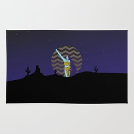 Desert goddess at night Rug