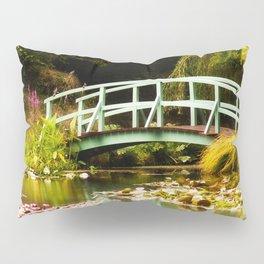 Replica Monet Bridge at Bennetts Water Gardens Pillow Sham