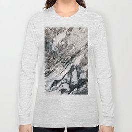 Gray and black marble slab Long Sleeve T-shirt