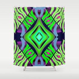 Mystic Diamond on Green/Purple/Pink/Light Blue/Navy Shower Curtain