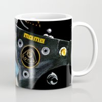 senna Mugs featuring Ayrton Senna 1985 Lotus  by Borja Sanz
