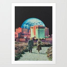 'Late night getaway' Art Print