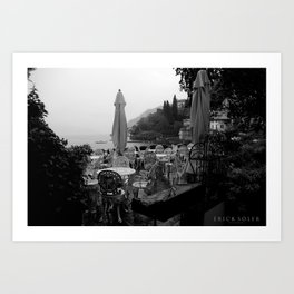 Terrace on Como Lake Art Print