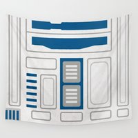 r2d2 Wall Tapestries featuring R2D2 by Alison Lee