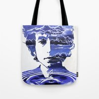 dylan Tote Bags featuring Dylan by Alex Carlson