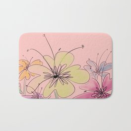 Blossoming buds Bath Mat