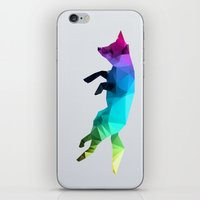 glass iPhone & iPod Skins featuring Glass Animal - Flying Fox by Three of the Possessed