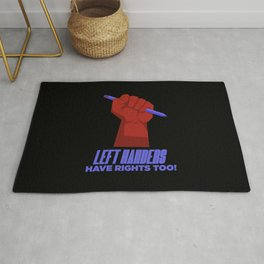 Left Handers Rights Funny Textured Rug
