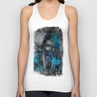 hindu Tank Tops featuring Krishna The mischievous one - The Hindu God by sarvesh