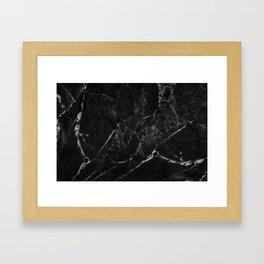 Black Marble Print II Framed Art Print