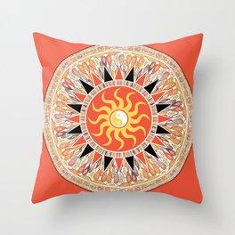 Sunshine mandala Throw Pillow