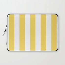 Stil de grain yellow - solid color - white vertical lines pattern Laptop Sleeve