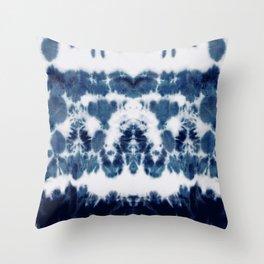 Shibori Not Sorry Throw Pillow