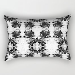 Akiko - spilled ink watercolor painting marble black and white minimal abstract wave ocean marbled Rectangular Pillow