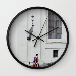 Vatican swiss guards | The Holy City, Italy | On vacation in Rome | Travel and food photography Wall Clock
