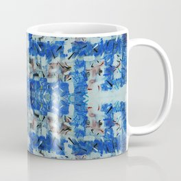 Abstract anarchism blue pattern Coffee Mug