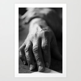 Grandma's Hands Art Print
