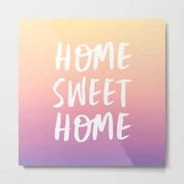 Home Sweet Home - Yellow Purple Ombre Metal Print