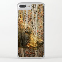 The Forest Bear Clear iPhone Case